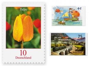 Verschiedene Briefmarken